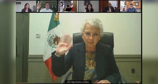 Olga Sánchez llama a gobernadores a transición pacífica tras elecciones