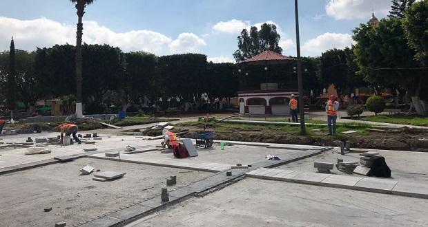 Supervisa Karina Pérez cuatro obras de Sedatu en San Andrés Cholula