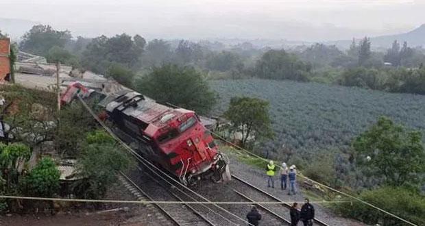 Tren descarrila en Jalisco y deja un muerto; SCT investiga