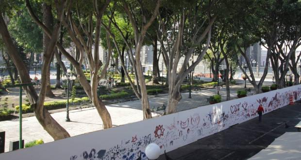 Cancelan obras de la 5 de Mayo del CH; retirarán muro del zócalo