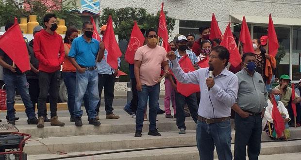 Antorchistas exigen solución a problemas de agua potable en Tehuacán