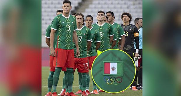 Bordan mal bandera de México en jersey de la Selección para Tokio