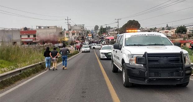 Cierran la Tlaxcala-Texmelucan: acusan falta de agua en Villa Alta