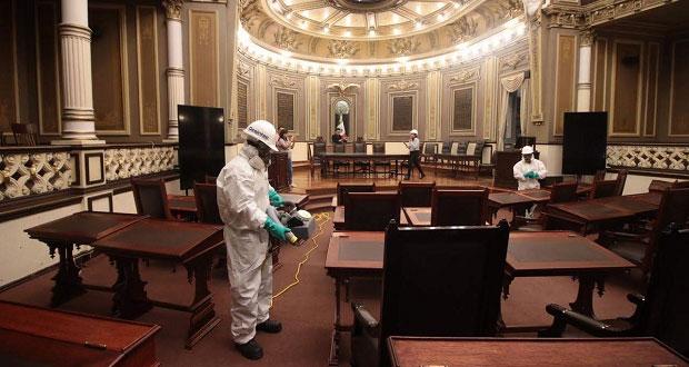 Congreso de Puebla reporta 5 casos de Covid; descarta brote