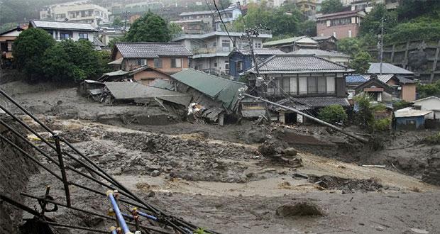 Deslave por fuertes lluvias en Japón deja al menos 19 desaparecidos