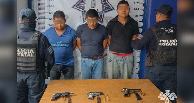 Detienen a tres por asalto a automovilistas en Tlatlauquitepec