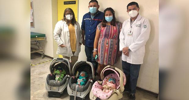 El IMSS en Coahuila logra nacimiento exitoso de trillizos