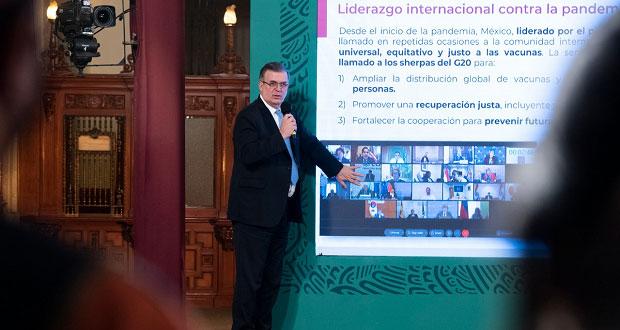 En agosto, México tendrá 80 millones de vacunas contra Covid: SRE
