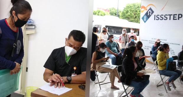 Issstep realiza jornada de atención médica en Tehuacán