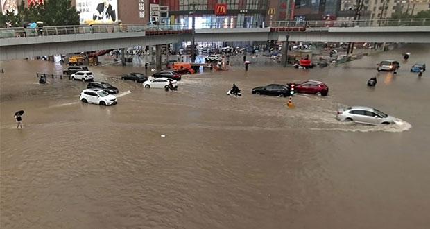 Inundaciones en China dejan al menos 25 muertos