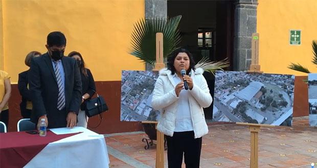 """San Andrés formaliza donación de edificio """"Acahualtepetzi"""" a AC"""