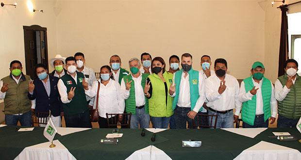 Partido Verde presenta a diputados y ediles electos en Puebla