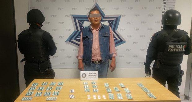 SSP detiene a hombre con más de 300 pastillas psicotrópicas