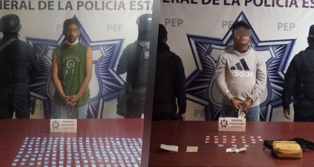 SSP detiene a dos narcovendedores en Puebla y Atlixco