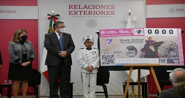 """Lotería Nacional devela billete de Simón Bolívar """"El Libertador"""""""
