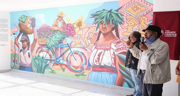 Comuna inaugura mural cultural en San Andrés Cholula