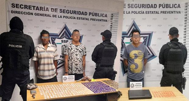 Captura Policía Estatal a tres presuntos vendedores de droga