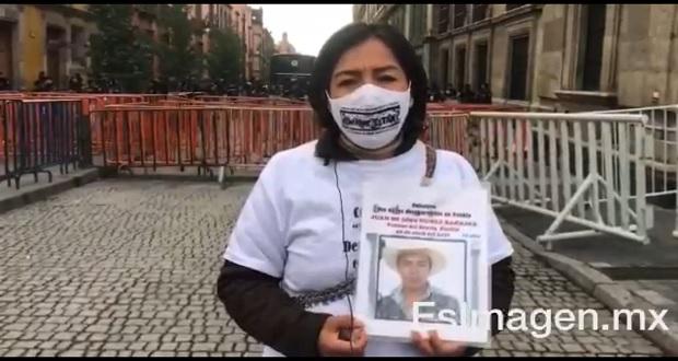 Exigen desde Palacio Nacional aprobar Ley de Desaparecidos en Puebla