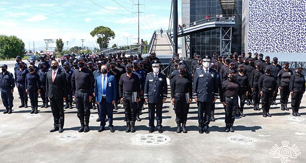 105 cadetes graduados se suman a las filas de SSP de Puebla