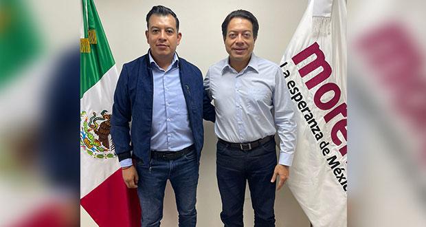 Delgado y Belmont acuerdan rutas de acción de Morena en Puebla