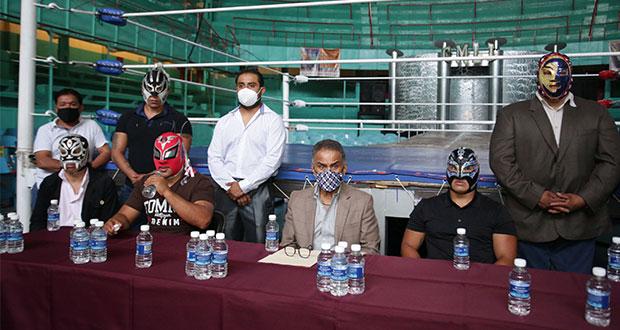 Regresa Arena Puebla sin contacto con luchadores ni venta en pasillos