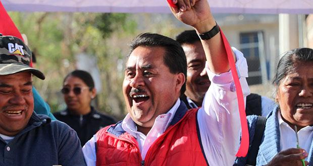 Antorcha celebra ratificación de Morales como edil electo de Ocoyucan