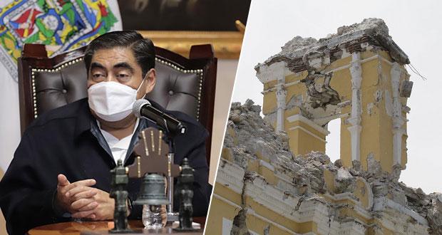 Aún por rehabilitar, 350 monumentos dañados en sismo de 2017: Barbosa