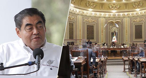 Barbosa buscará consensos en Congreso local para aprobación de iniciativas