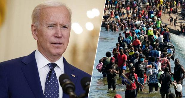 """Biden asegura que pondrá """"bajo control"""" situación de migrantes haitianos"""