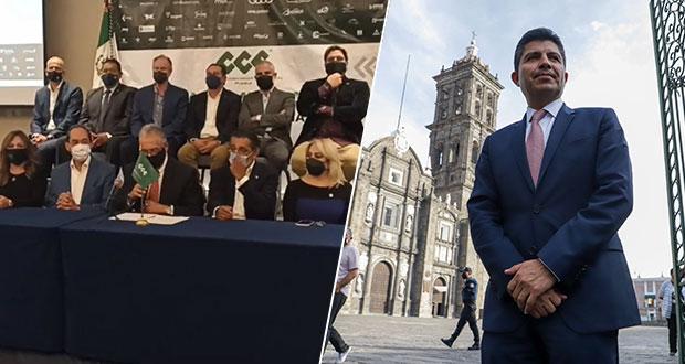 Canaco da voto de confianza a Eduardo Rivera para mejorar CH de Puebla