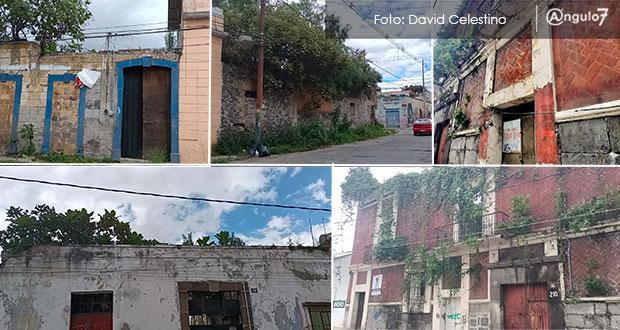 Casonas en riesgo de caerse, parte del paisaje en CH de Puebla