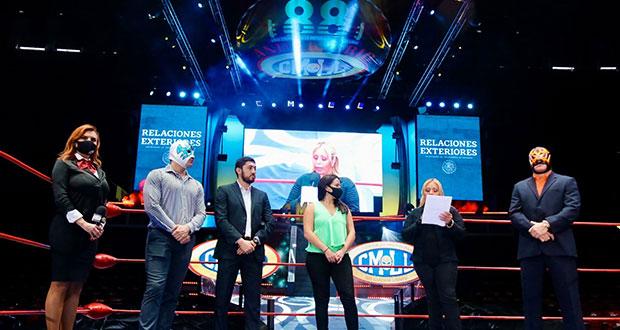 Con lucha libre, SRE y CMLL buscan promover el deporte y la paz