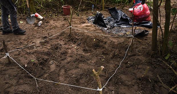De 2017 a 2019, ONGs identifican 21 cuerpos en 14 fosas clandestinas en Puebla