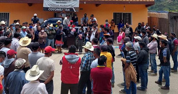 TEEP valida triunfo de Rodolfo García en Coyomeapan; vecinos acusan cacicazgo