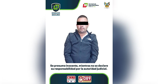 Detienen a alcalde de Honey en Hidalgo por portación ilegal de arma