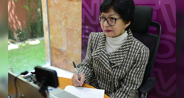 Lilia Cedillo escucha propuestas en BUAP para plan de trabajo