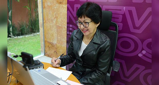 En campaña, Lilia Cedillo dialoga con más de 25 mil miembros de BUAP
