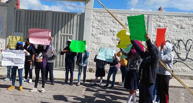 Fnerrr exige terreno para bachillerato digital en Amozoc