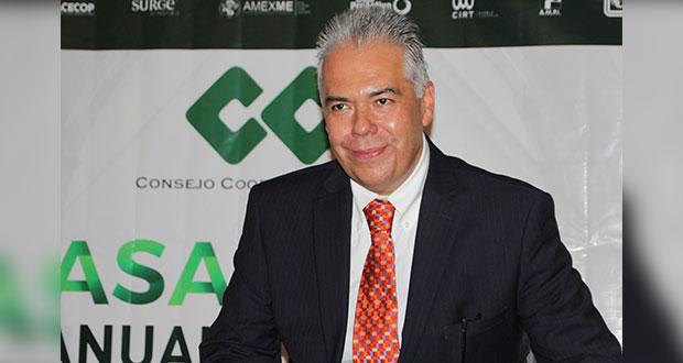 Ignacio Alarcón Rodríguez, reelecto como presidente del CCE de Puebla
