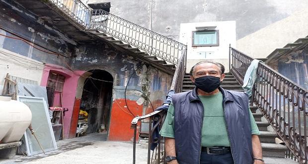 Ante sismos, vecindades del CH de Puebla aún con familias