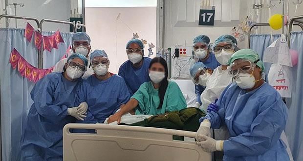Marifer festeja 31 años tras recuperarse de Covid en IMSS