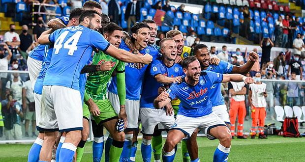 Napoli le saca un agónico al Leicester City