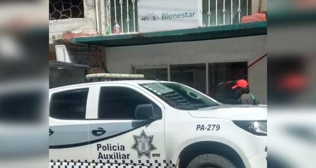 Se registra robo millonario a Banco del Bienestar en Huauchinango