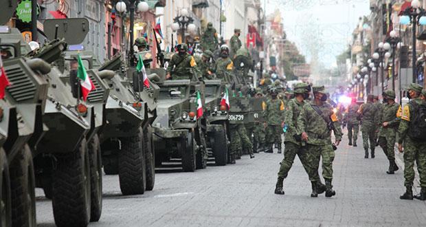 Tropas militares desfilarán el 16 de septiembre; este es el recorrido