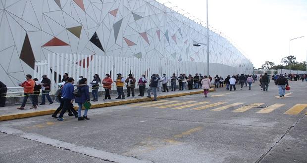 Investigan presunta mala aplicación de dosis contra Covid en Centro Expositor