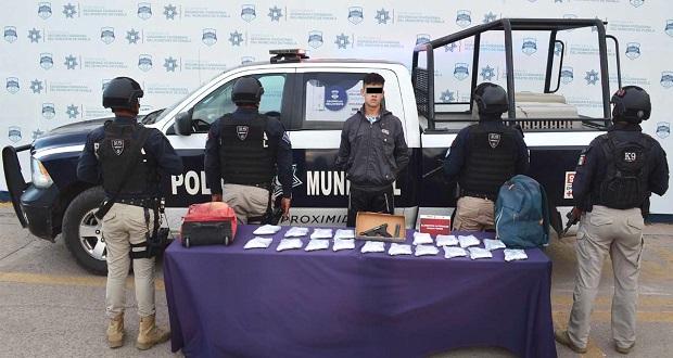 SSC de Puebla detiene a joven con 19 armas de fuego en la CAPU