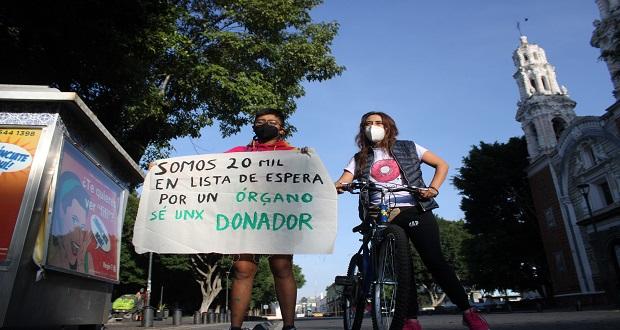 Con rodad, ONG busca fomentar la donación de órganos en Puebla