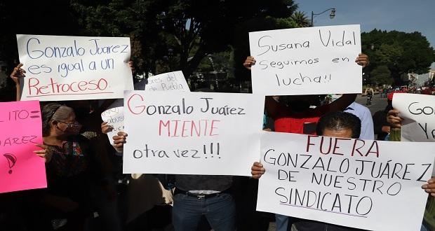 Insisten sindicalizados de Comuna en pugna jurídica contra Juárez Méndez