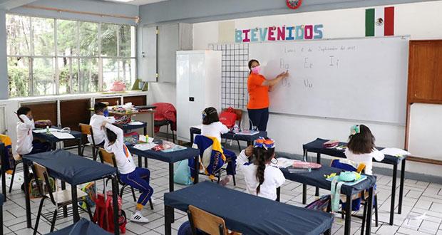 75% de alumnos, en clases presenciales en Puebla: SEP
