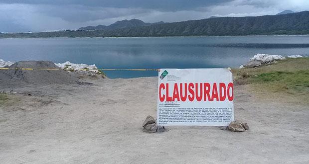 Clausuran obras para construir muelle en Laguna de Alchichica